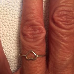 Gold hollow heart ring costume